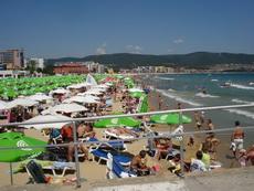 Слънчев Бряг - Изглед на широките и рввни плажове