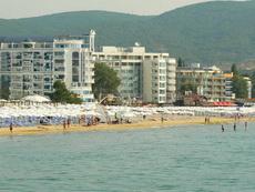 Слънчев Бряг снимка от към Черно Море